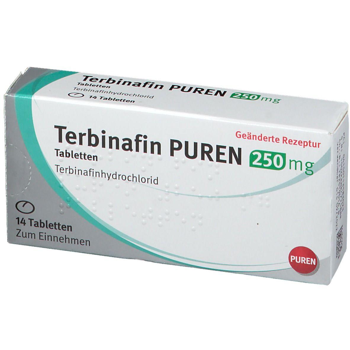 TERBINAFIN Puren 250 mg Tabletten