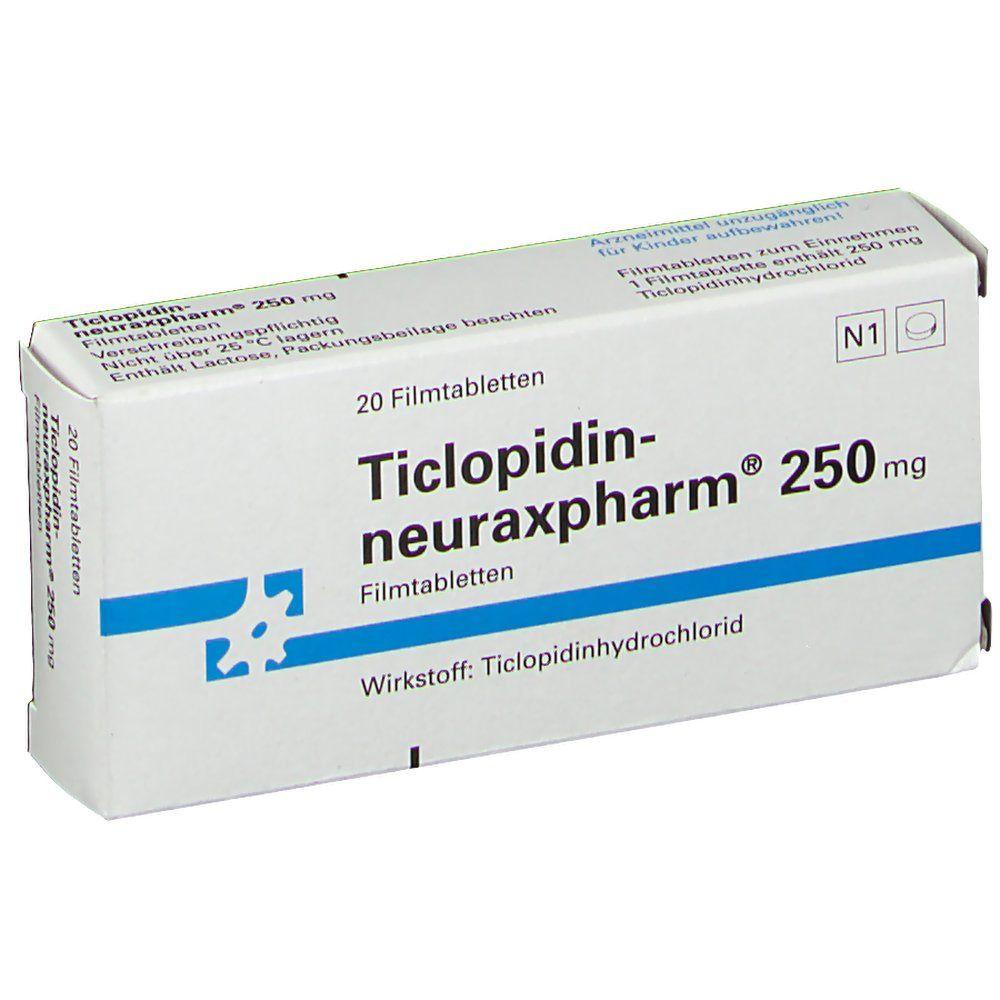 Ticlopidin neuraxpharm 250 mg Filmtabl.