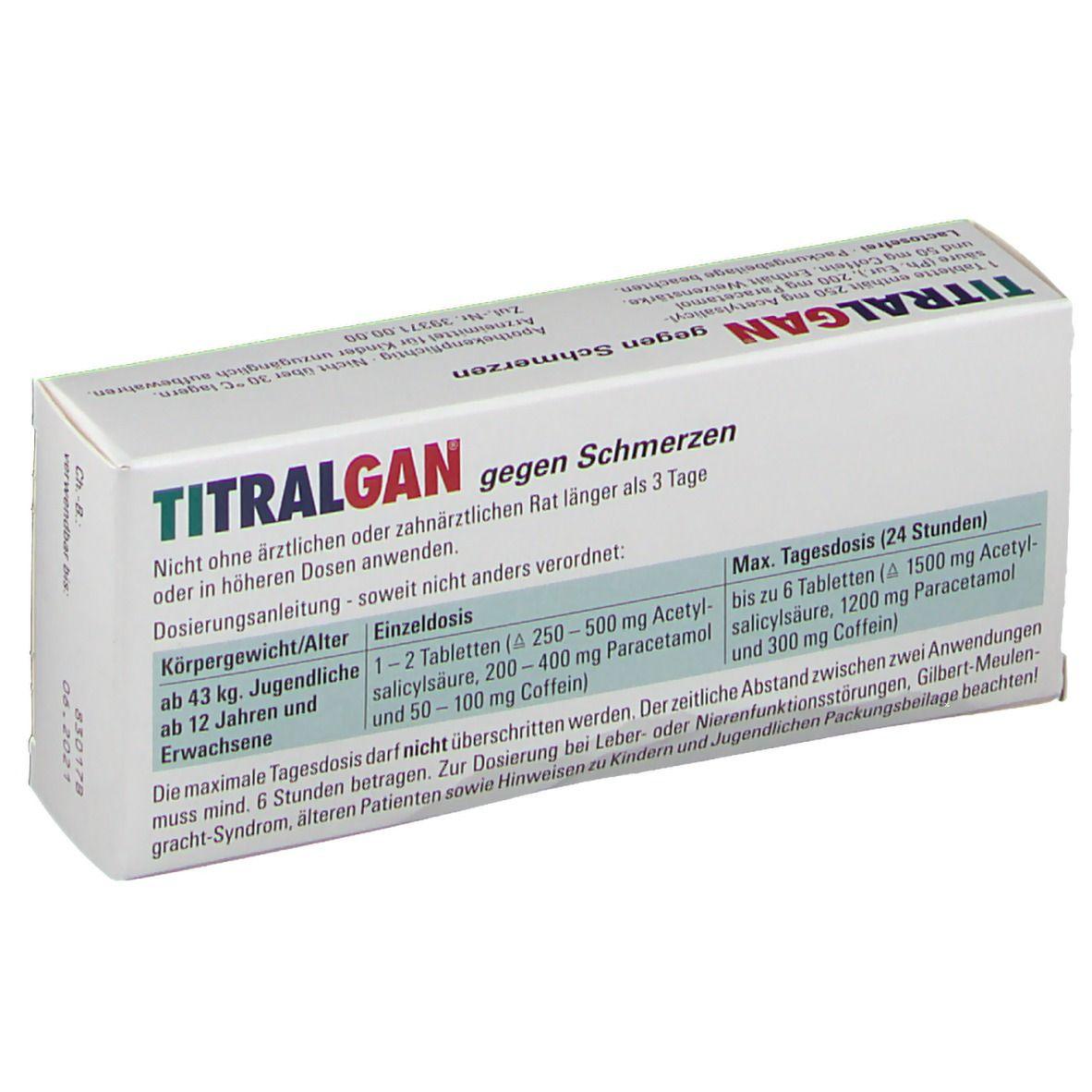 TITRALGAN® gegen Schmerzen