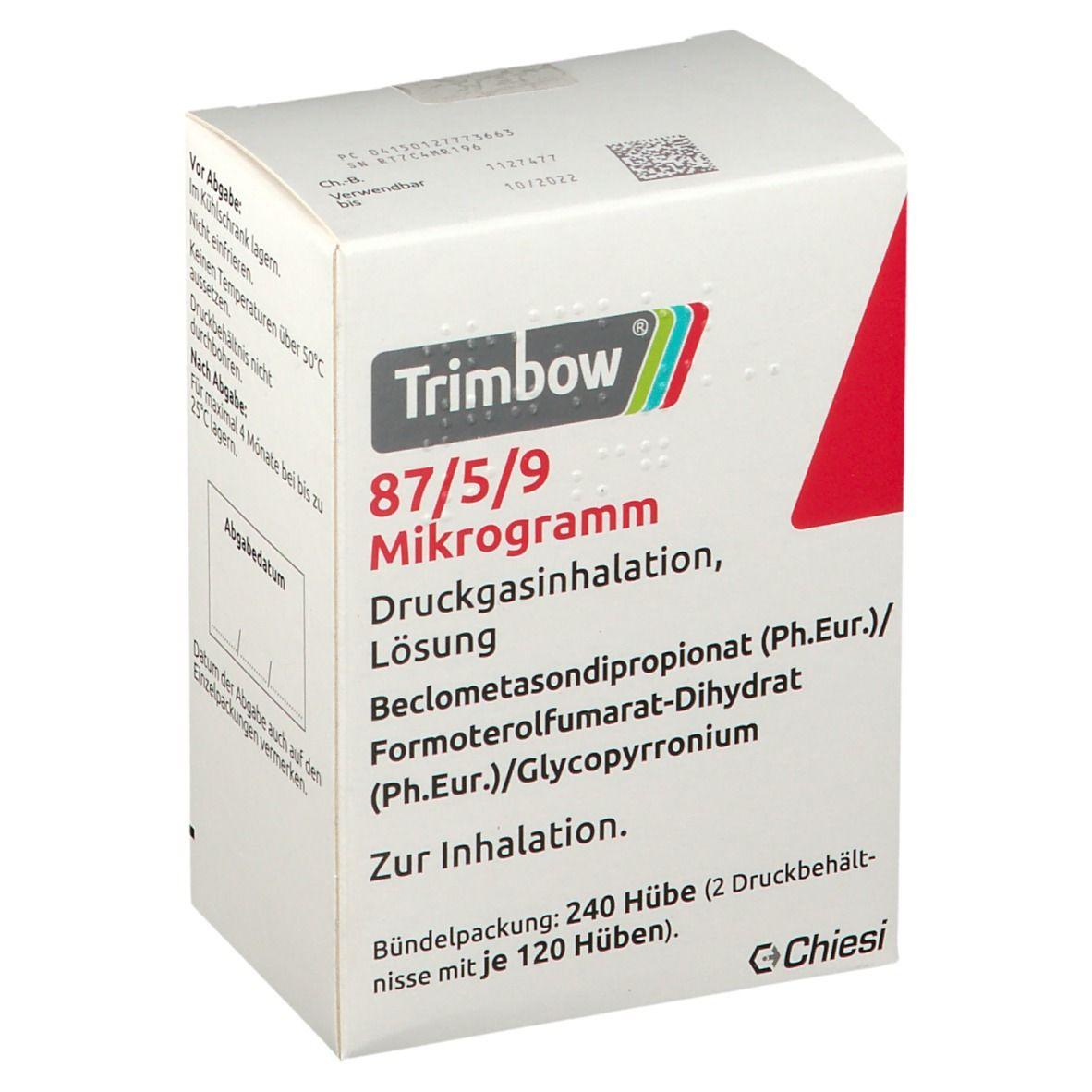 TRIMBOW 87 µg/5 µg/9 µg 120 Hub Druckgasinhalation