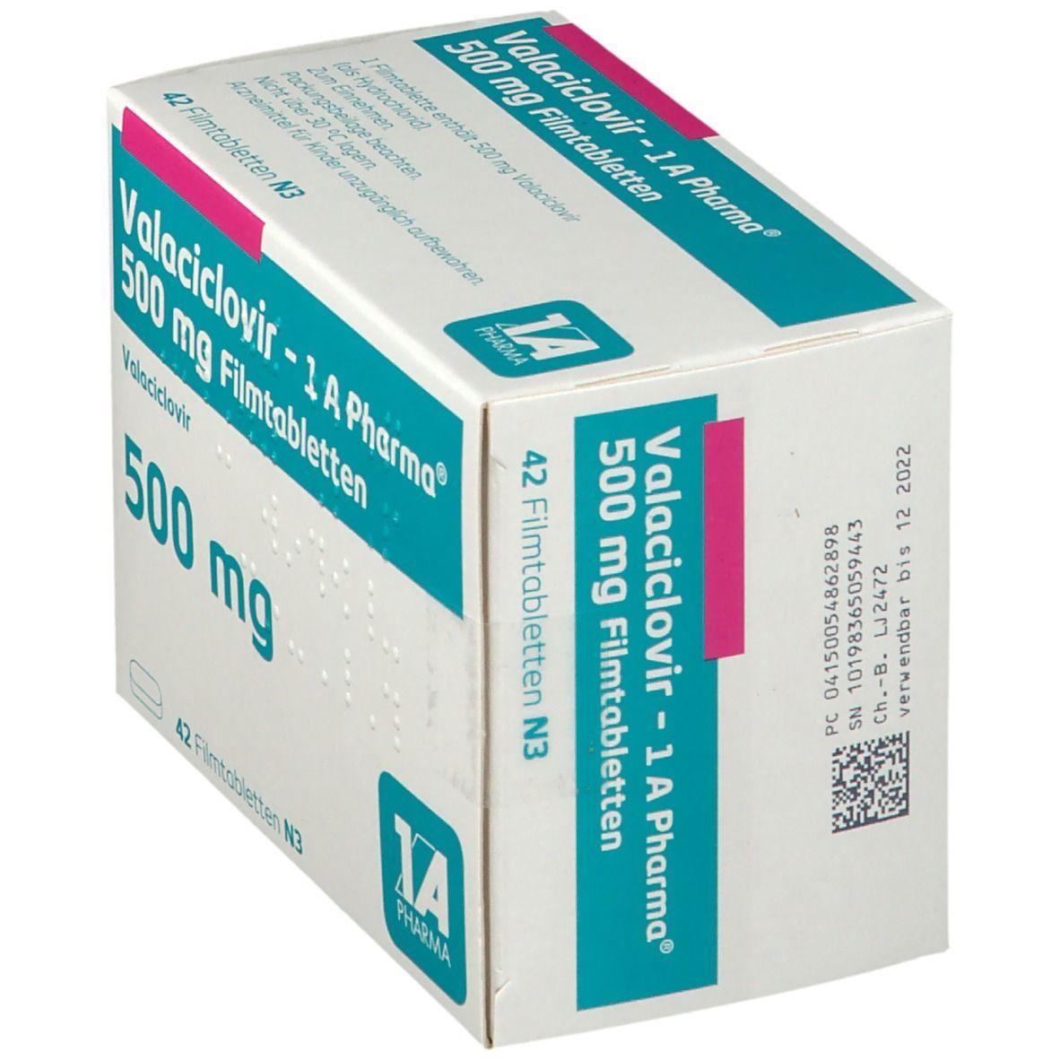VALACICLOVIR 1A Pharma 500 mg Filmtabletten