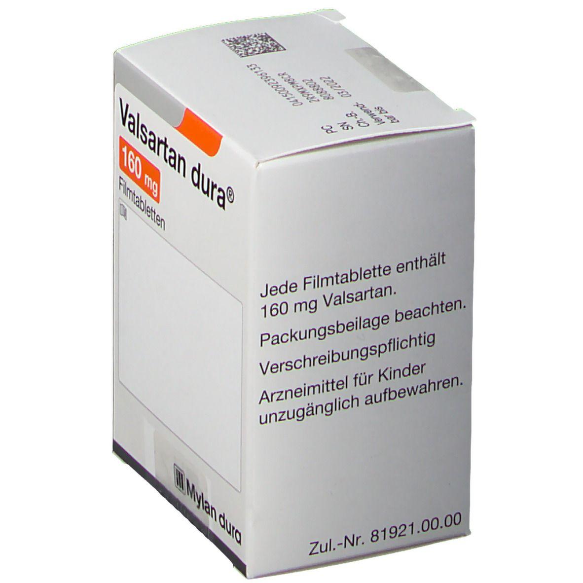 VALSARTAN dura 160 mg Filmtabletten