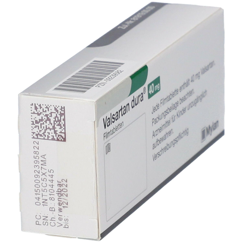 VALSARTAN dura 40 mg Filmtabletten