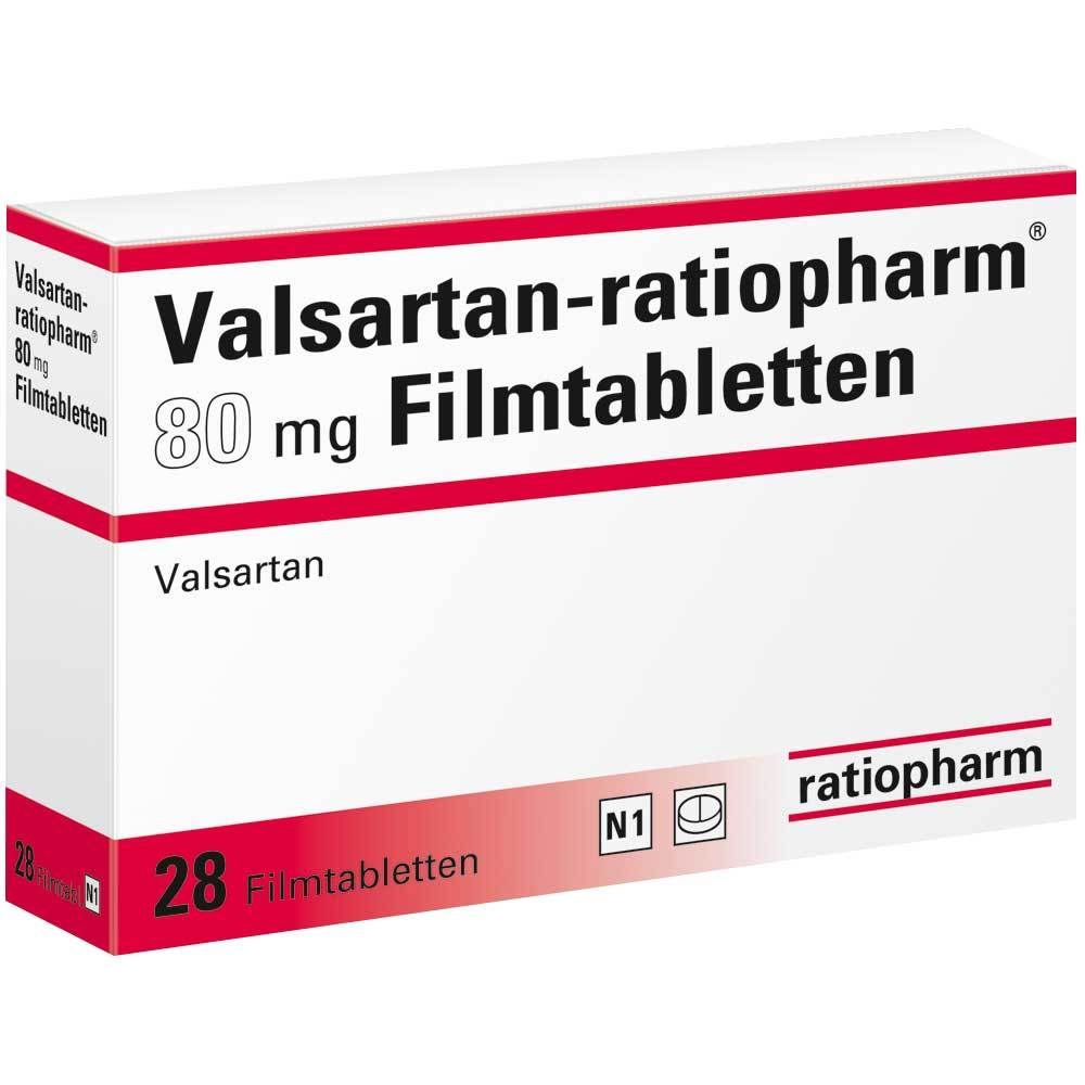 VALSARTAN ratiopharm® 80 mg Filmtabletten