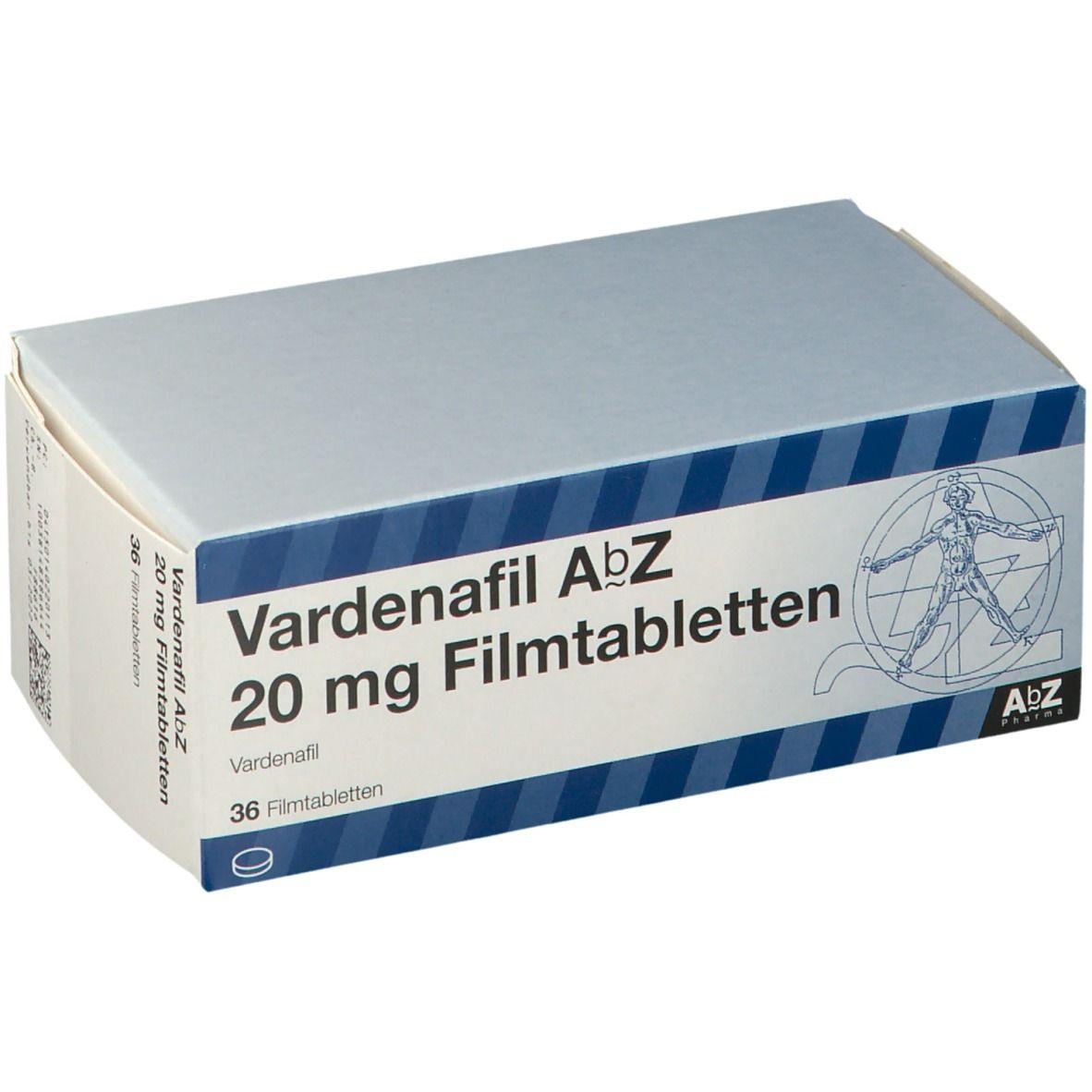 VARDENAFIL AbZ 20 mg Filmtabletten