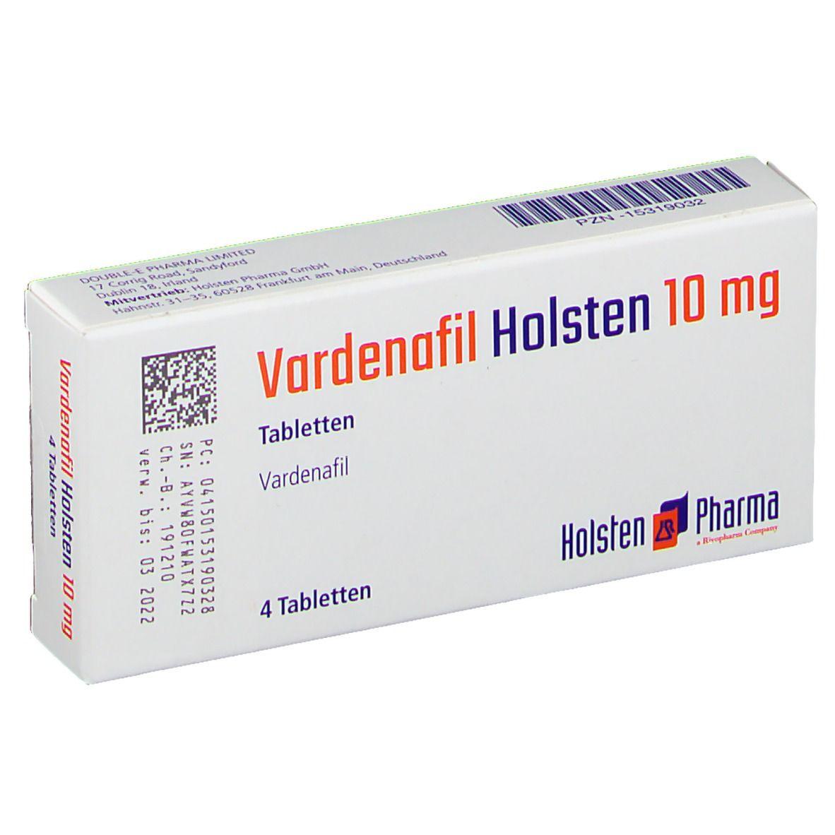 VARDENAFIL Holsten 10 mg Tabletten