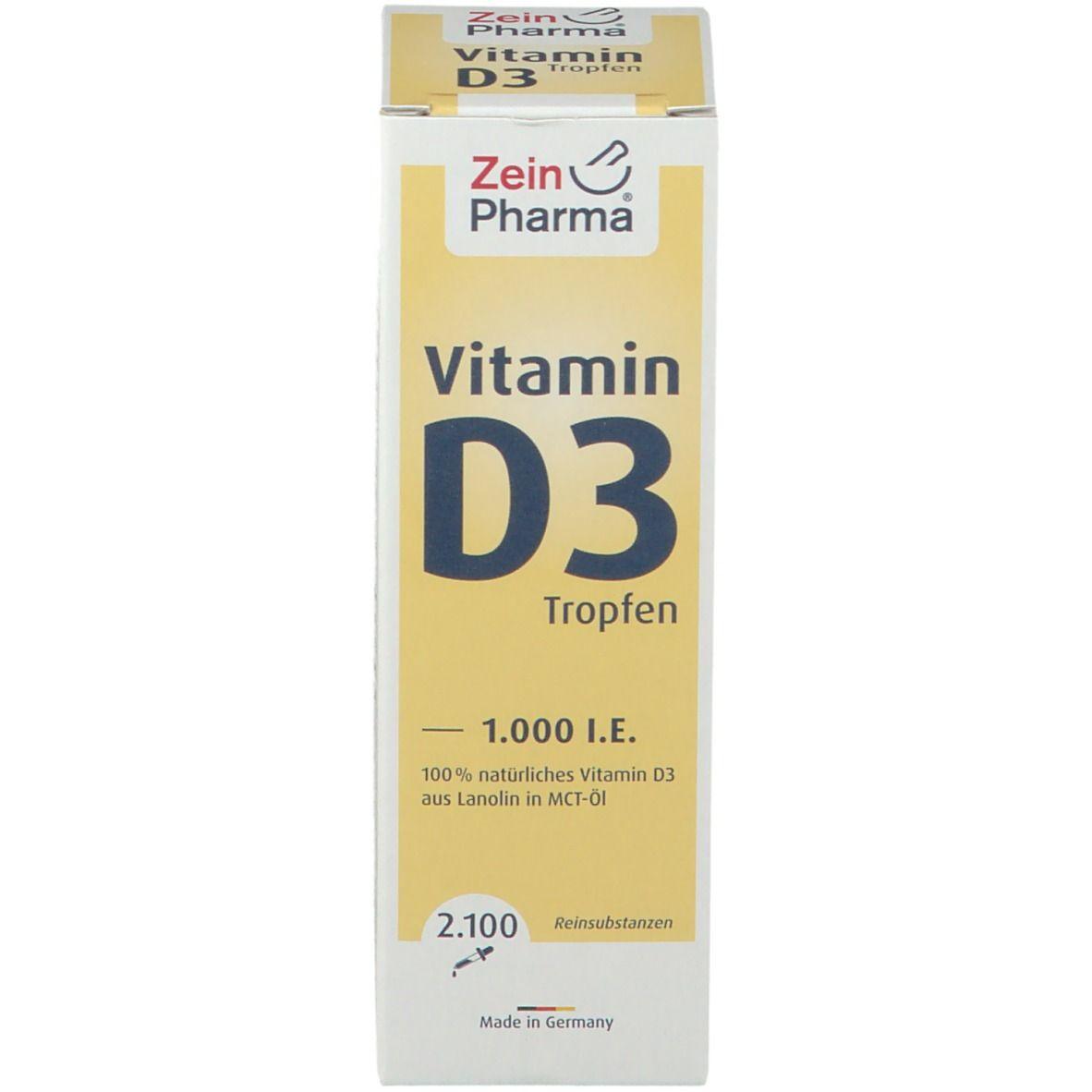 Vitamin D3 Tropfen 1.000 I.E. ZeinPharma