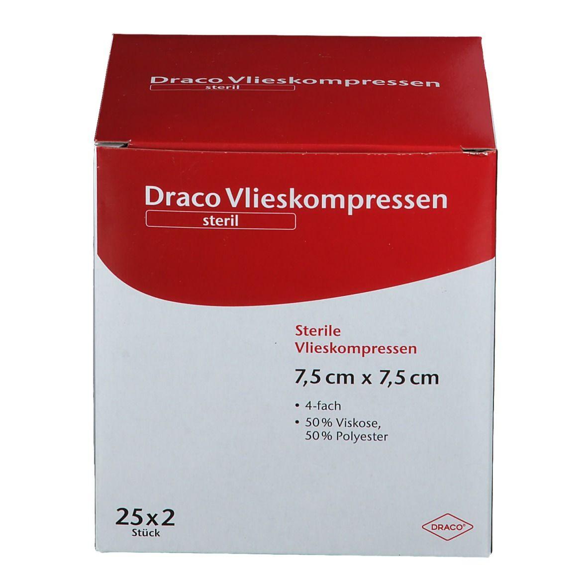 VLIESSTOFF-KOMPRESSEN 7,5x7,5 cm steril 4fach