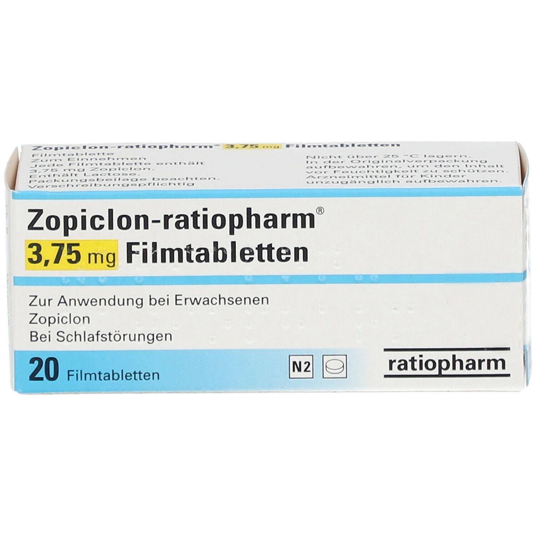 Zopiclon-ratiopharm® 3,75 mg Filmtabletten