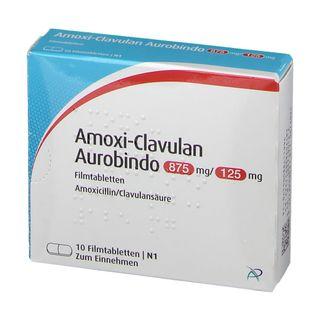 AMOXI CLAVULAN Aurobindo 875mg/125mg Filmtabletten 10 St