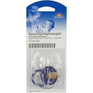 Baby-Frank® Sauger in Kirschform klein kl.Scheibe dunkelblau