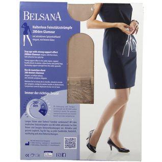 BELSANA 280den Glamour Schenkelstrumpf Größe large Farbe champagner normal