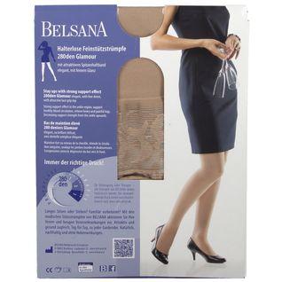 BELSANA 280den Glamour Schenkelstrumpf Größe large Farbe siena kurz