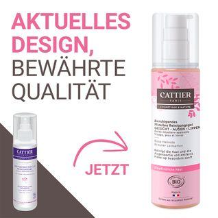 CATTIER Beruhigendes Mizellen Reinigungsgel Pulpe Fondante - Rosa Heilerde & Brauner Leinsamen