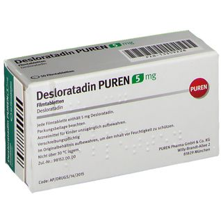 DESLORATADIN PUREN 5 mg Filmtabletten