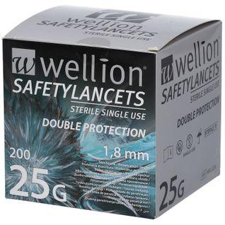 Wellion Safetylancets 25 G 1,8 mm