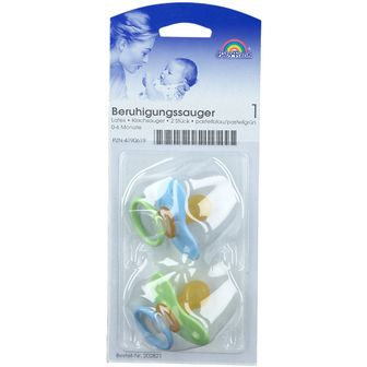 Baby-Frank® Beruhigungssauger Latex 0-6 Monate blau/grün