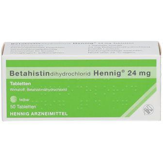 BETAHISTINDIHYDROCHLORID Hennig 24 mg Tabletten