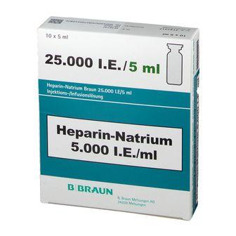 HEPARIN NATRIUM Braun 25.000 I.E./5ml Inj./Inf.-L.