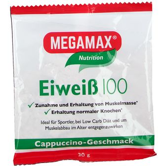 MEGAMAX® Basic & Active Eiweiß 100 Cappuccino-Geschmack