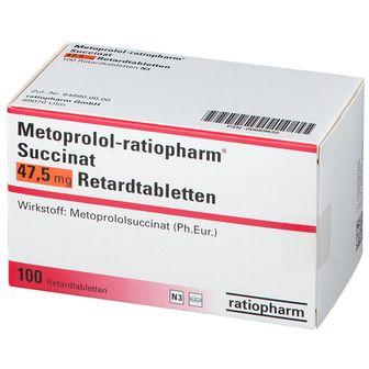 Metoprolol-ratiopharm® Succinat 47,5 mg