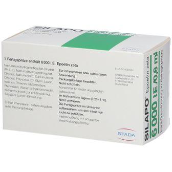 Silapo® 6.000 I.E./0,6 ml Fertigspritzen