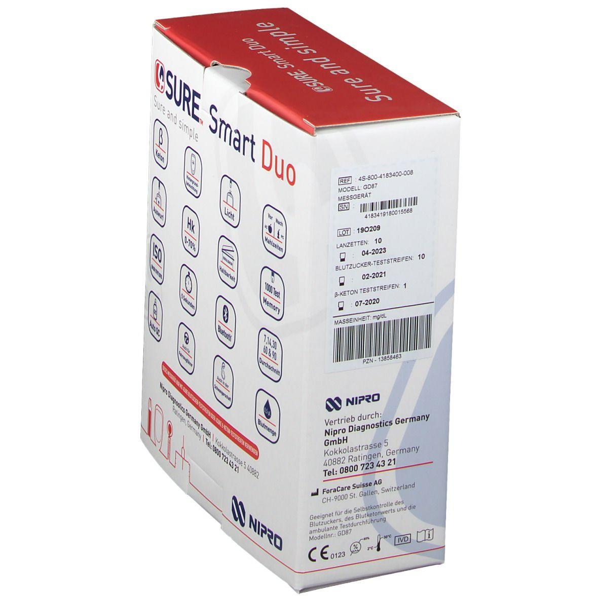 4SURE Smart Duo Blutzucker- und ß-Keton Messgerät mg/dL