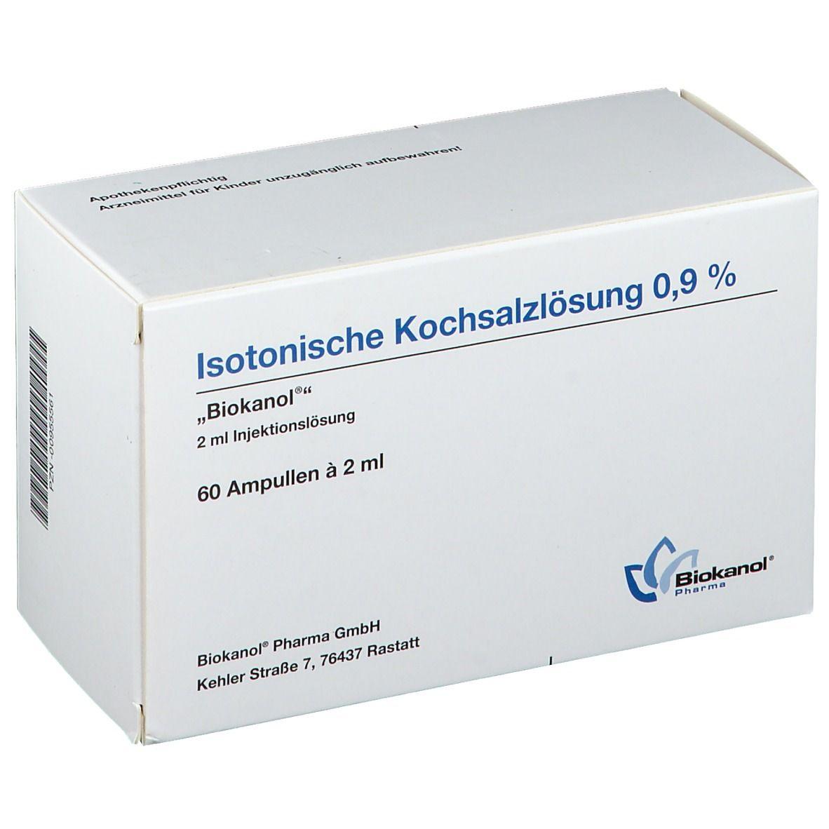 Isotonische Kochsalzlösung 0,9% Ampullen