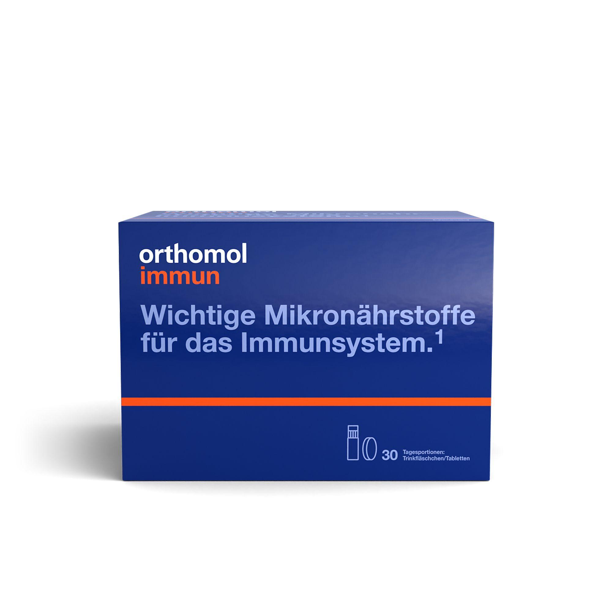 Orthomol Immun Trinkfläschchen – 30 Stück