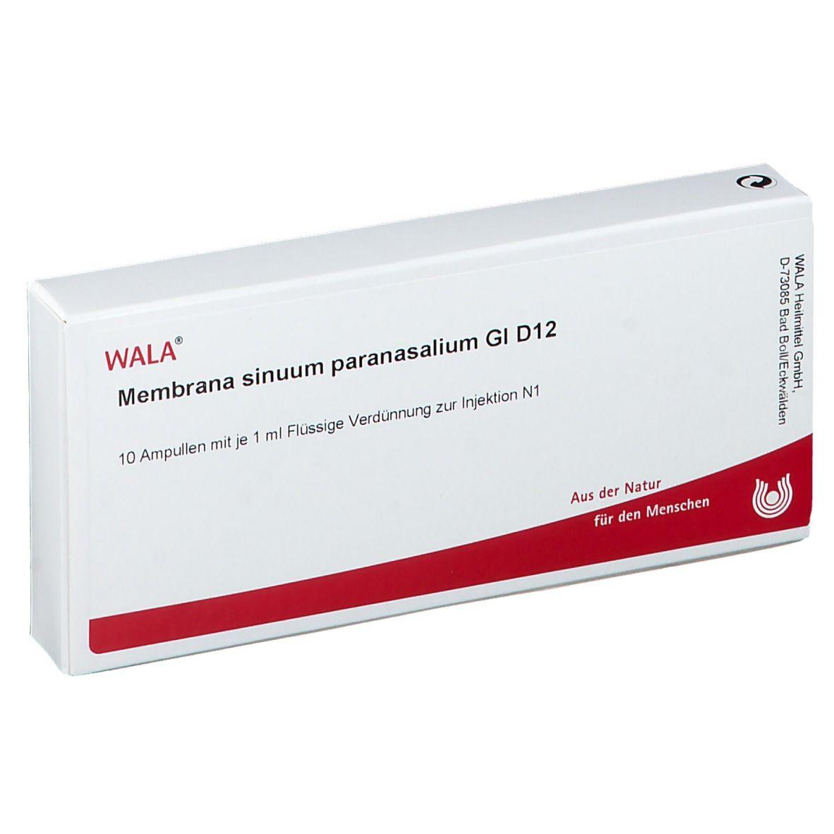 Wala® Membrana sinuum paranasalium Gl D 12