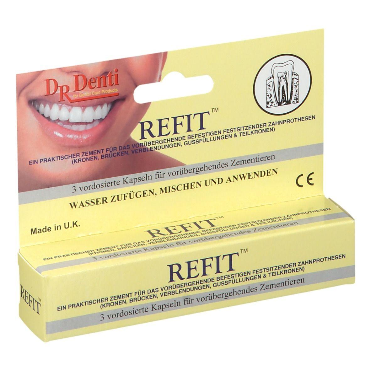 Dr. Denti Refit Zahnzement für Kronen und Brücken