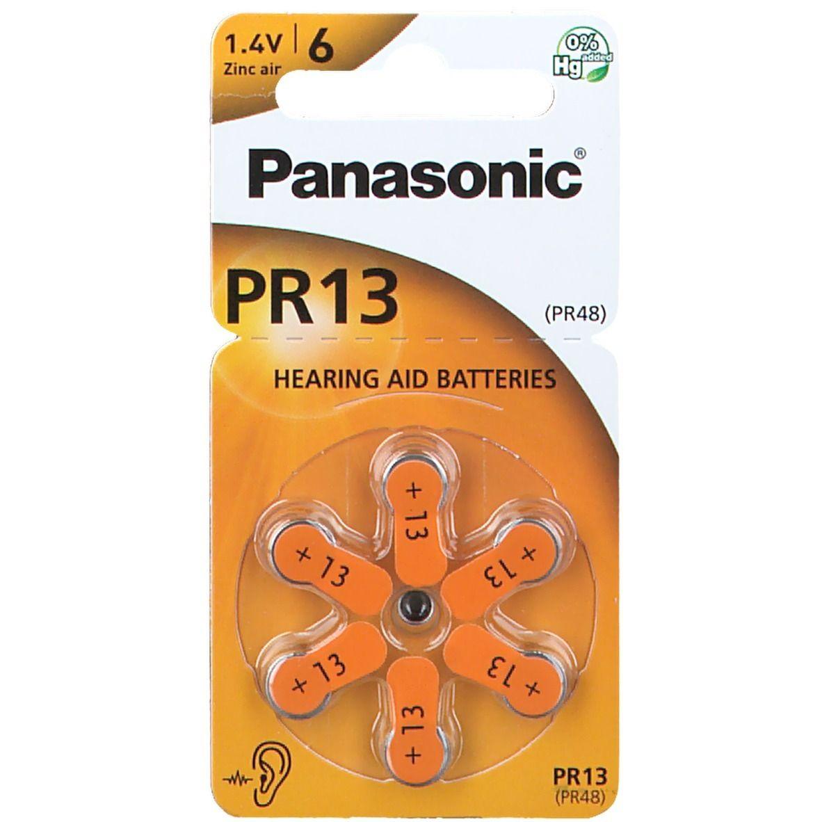 Batterien für Hörgerät Panasonic PR 13
