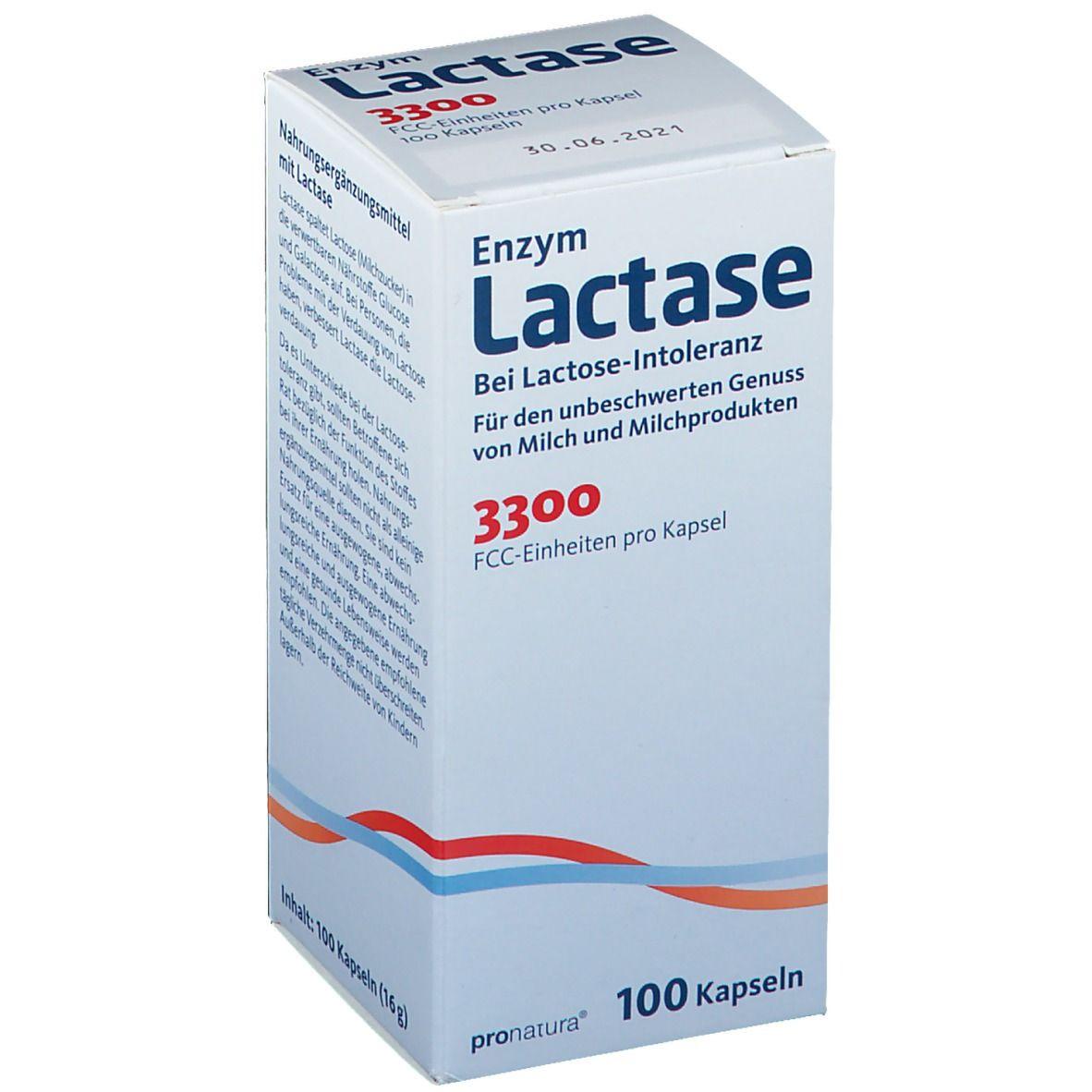 Enzym Lactase 3300 FCC Kapseln
