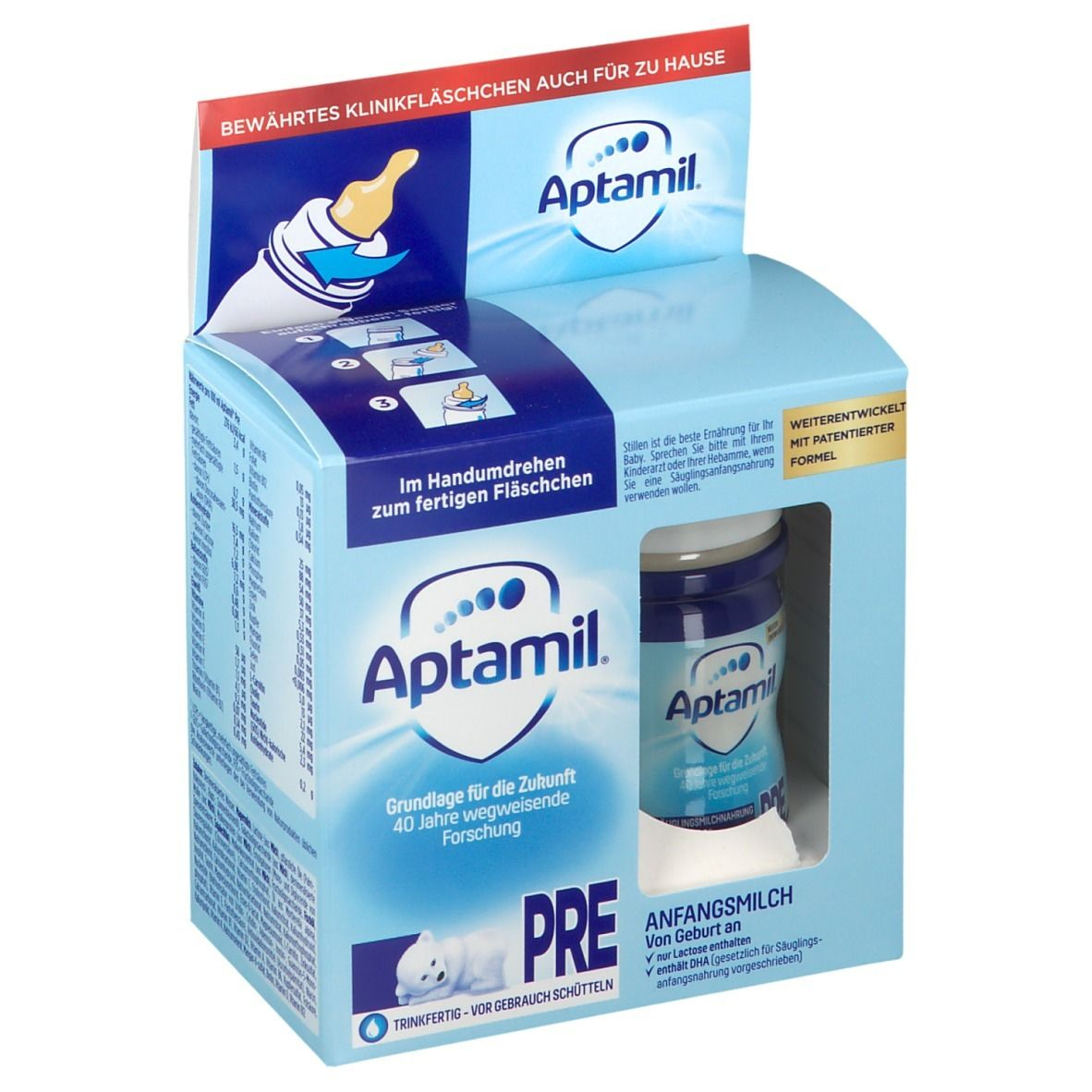 Aptamil™ Pre 2 x 90 ml Anfangsmilch