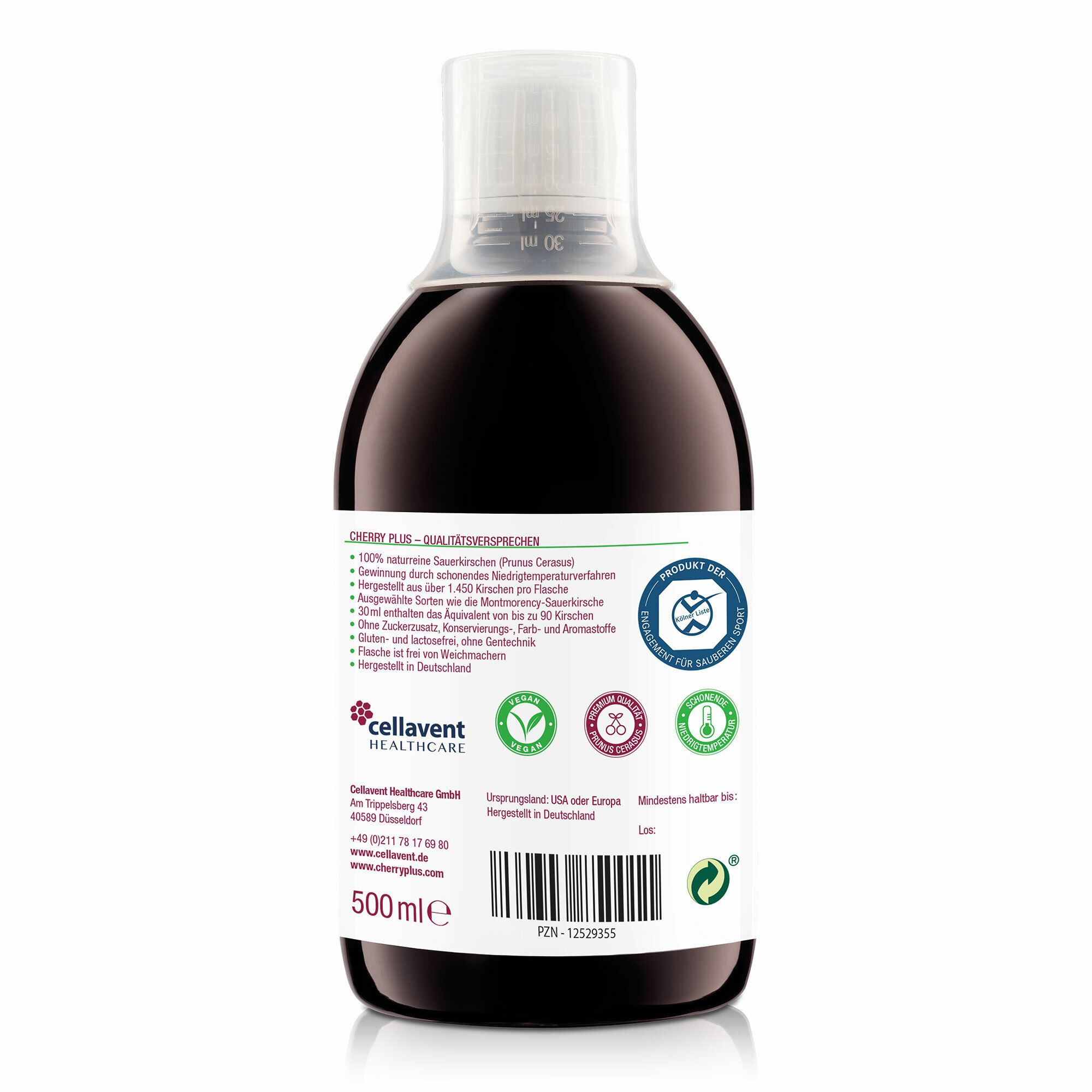 cherry plus+ 100 % Montmorency Sauerkirschen Saft