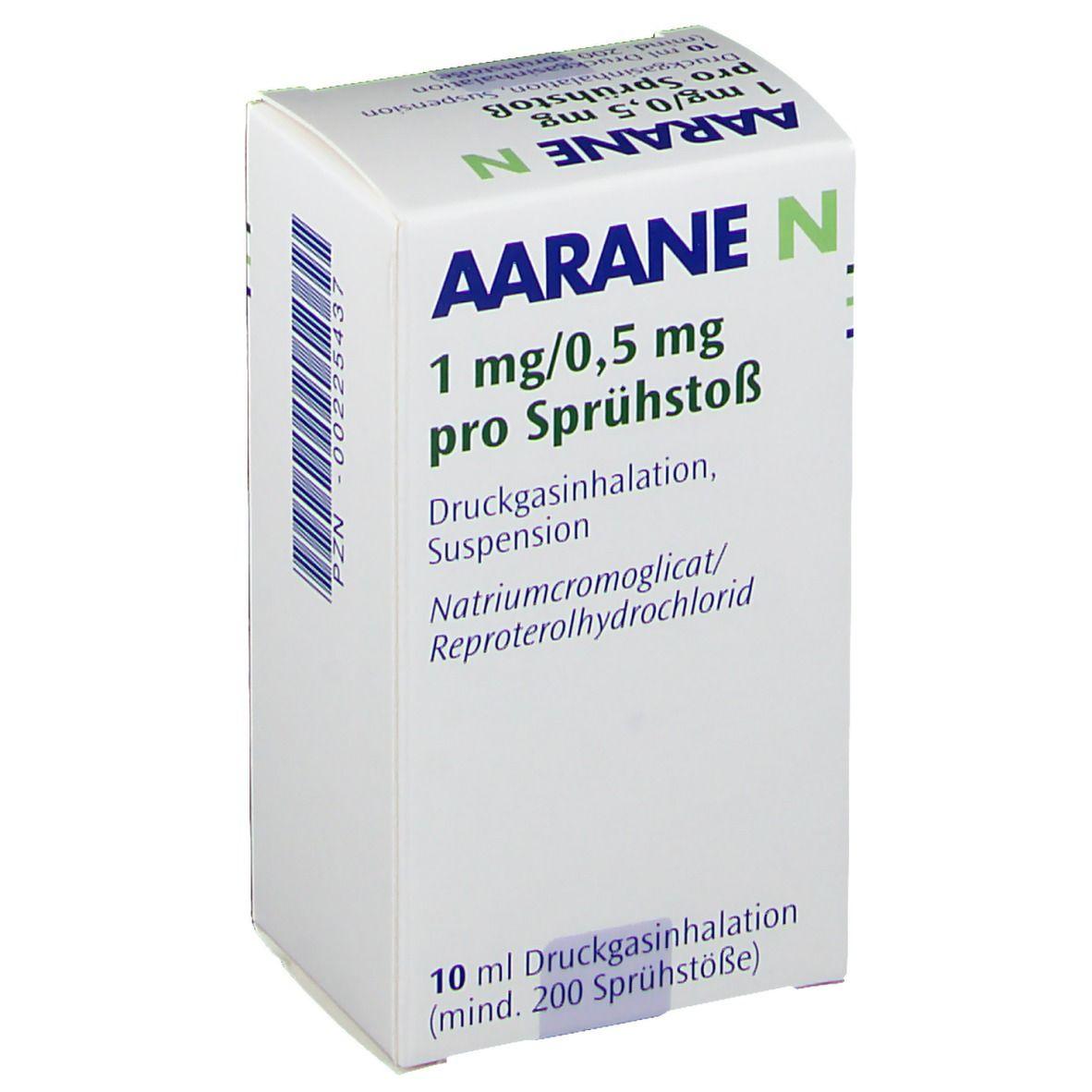 Aarane asthmaspray Mögliche Alternativen: