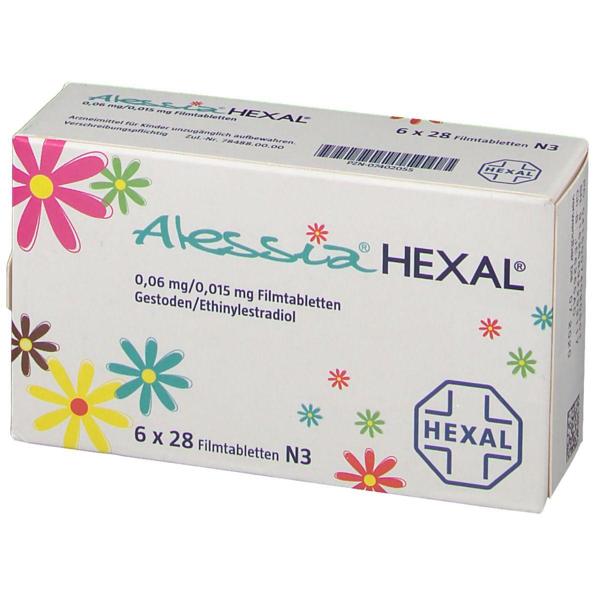ALESSIA HEXAL 0,06 mg/0,015 mg Filmtabletten 6X28 St