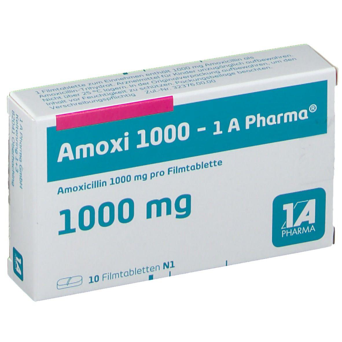 Amoxi 1000 1A Pharma® 10 St - shop-apotheke.com