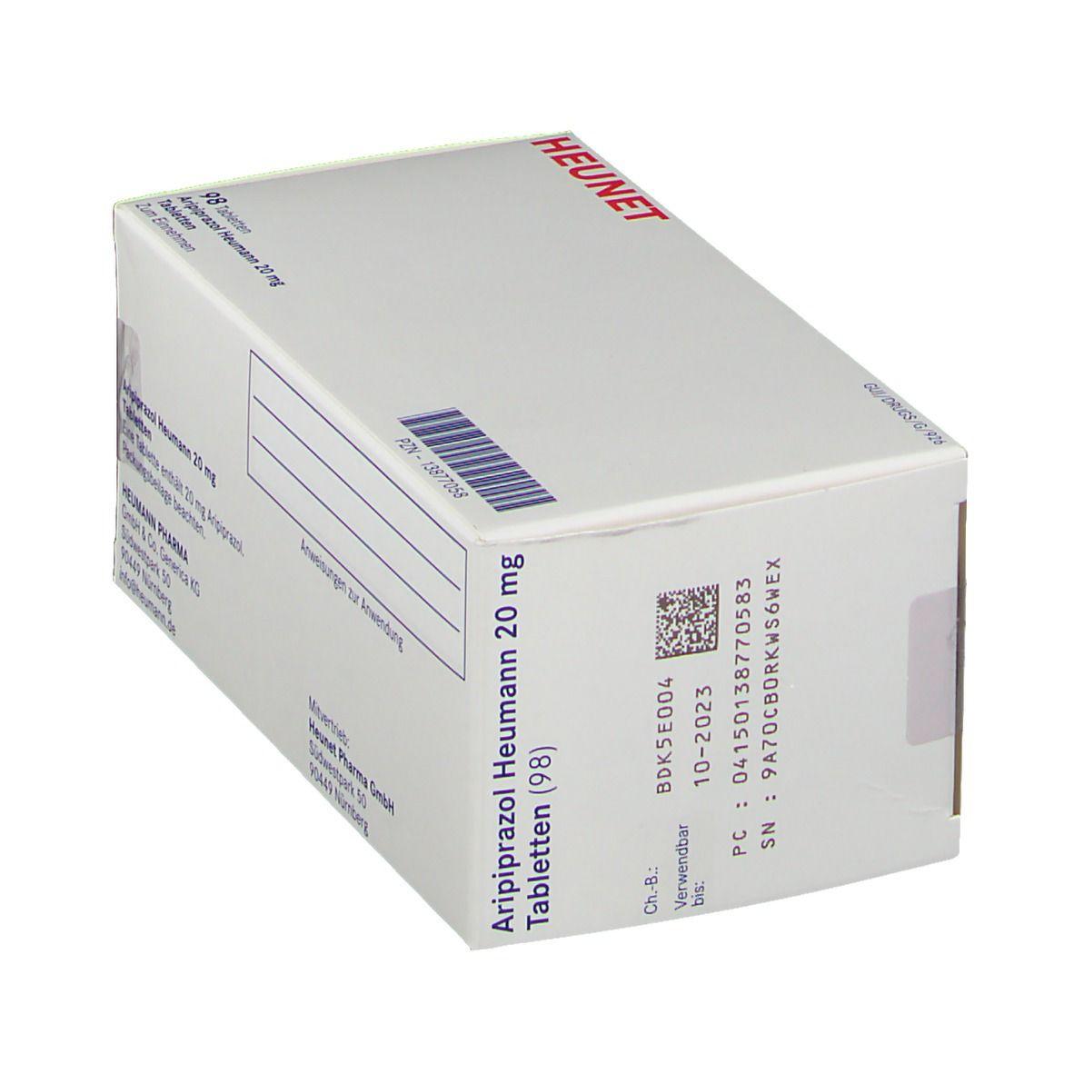 ARIPIPRAZOL Heumann 20 mg Tabletten HEUNET