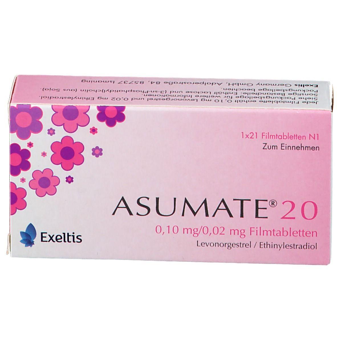 Nebenwirkungen asumate 20 Asumate 20