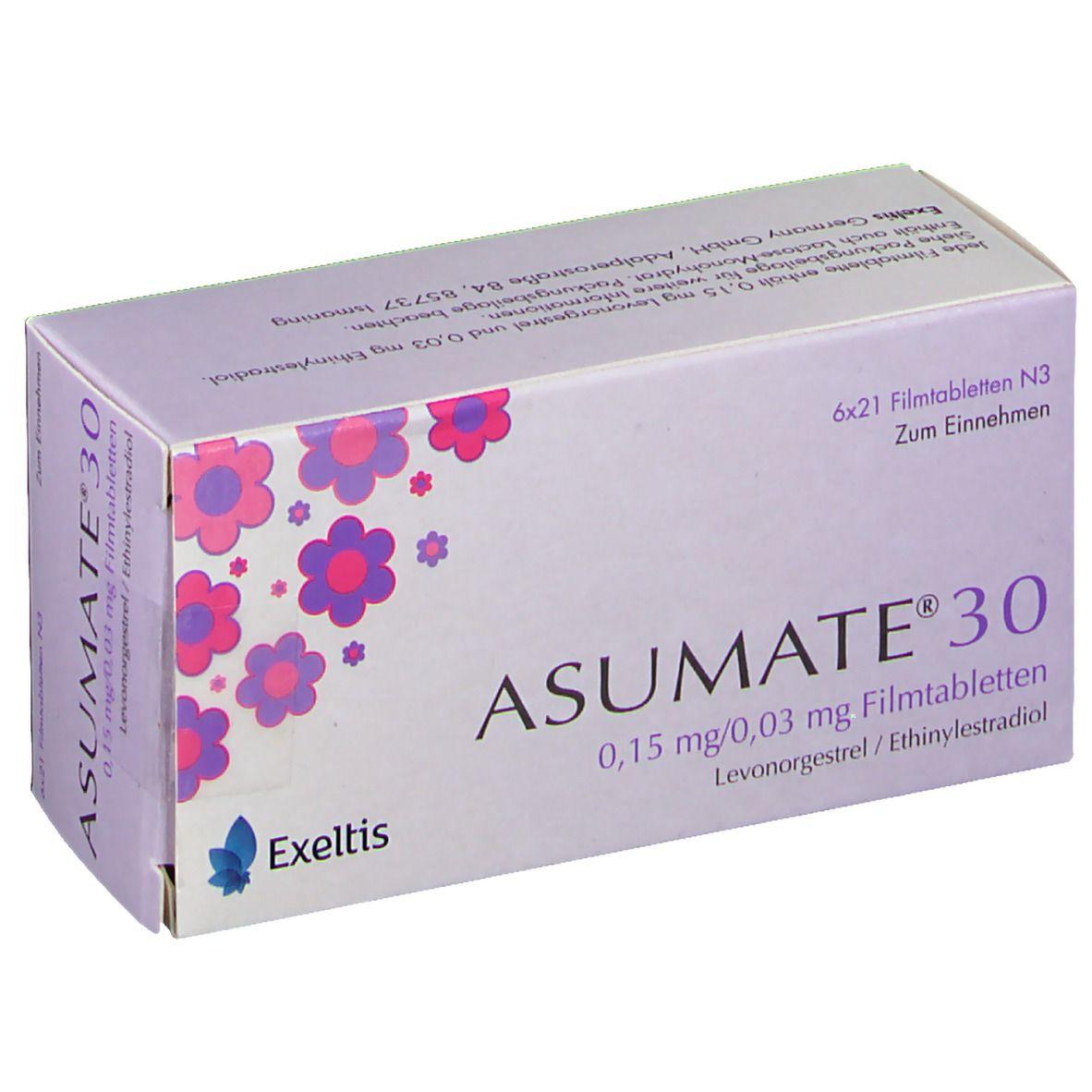 Asumate 30 gewichtszunahme
