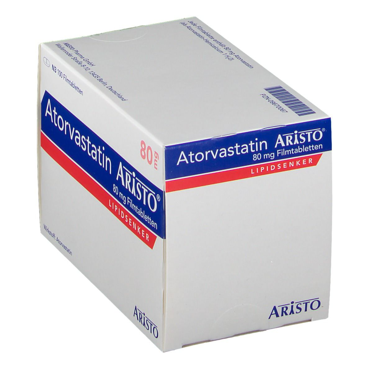 ATORVASTATIN Aristo 80 mg Filmtabletten