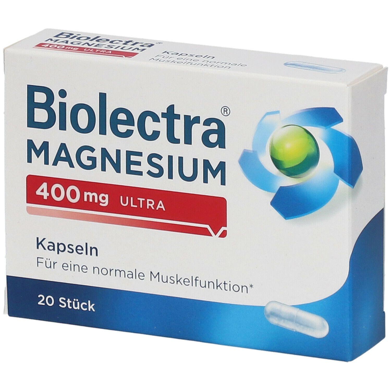 Biolectra Magnesium 400 mg ultra Kapseln 20 Stück PZN 10043625