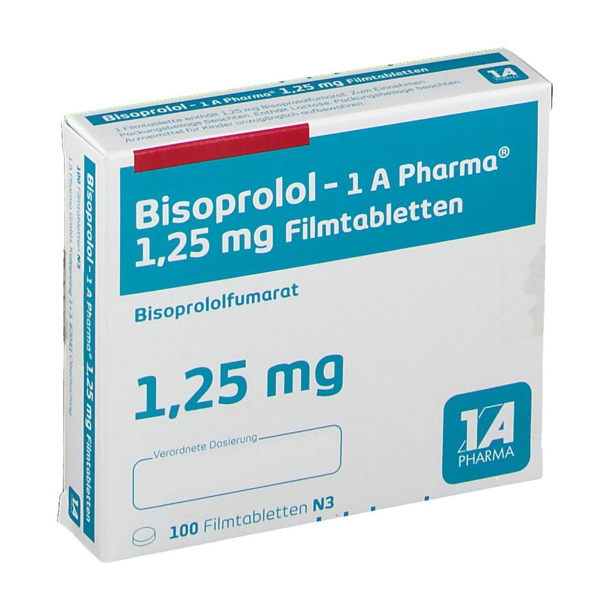 Bisoprolol 1 25 Absetzen