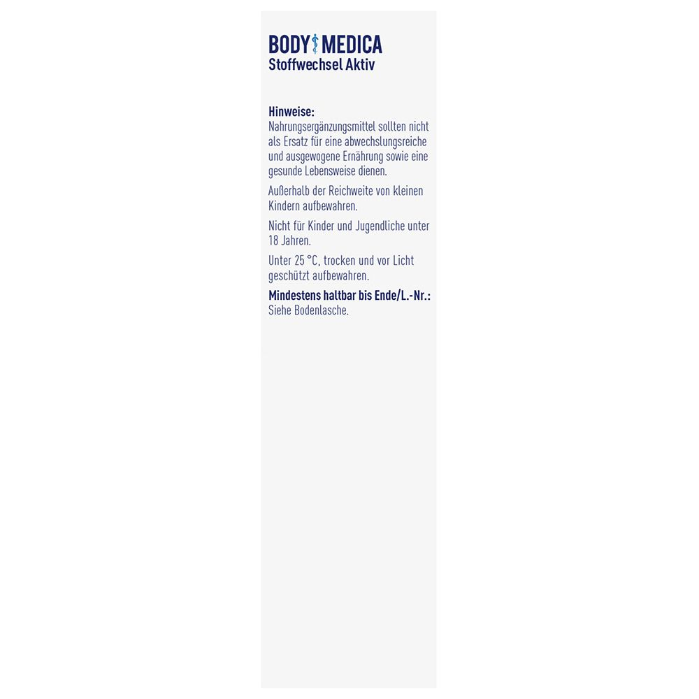 BODY MEDICA Stoffwechsel-Aktiv 60 St - shop-apotheke.com