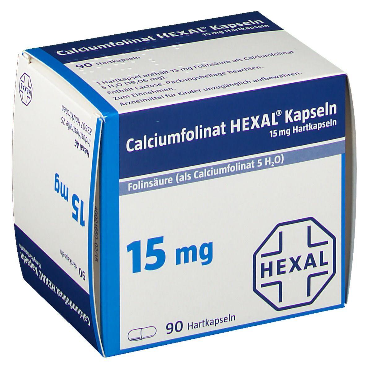 Calciumfolinat HEXAL®15 mg Kapseln