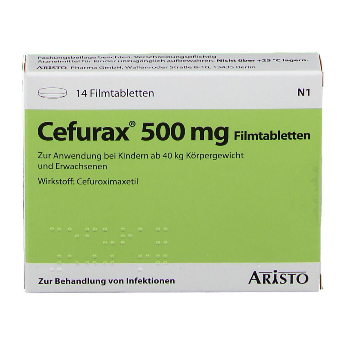 Und pille 500 cefurax Cefurax 500