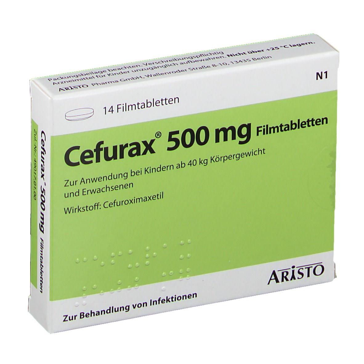 CEFURAX 500 mg Filmtabletten 14 St - shop-apotheke.com