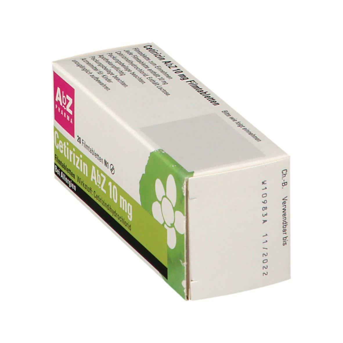 Cetirizin AbZ 10 mg 20 St - shop-apotheke.com