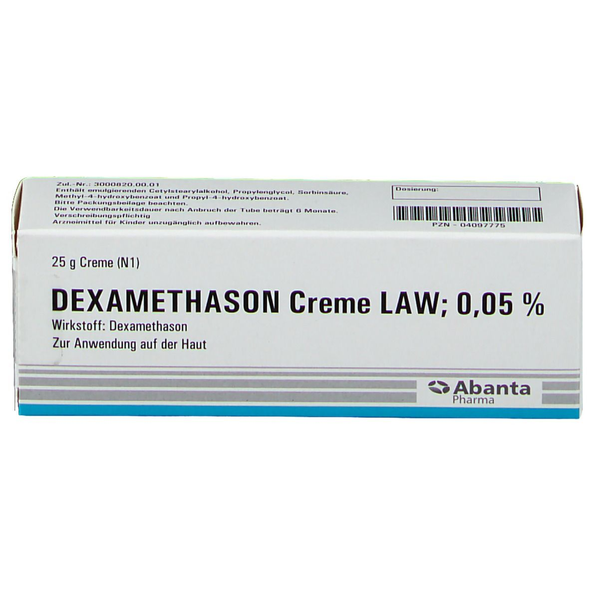 Dexamethason Creme Law